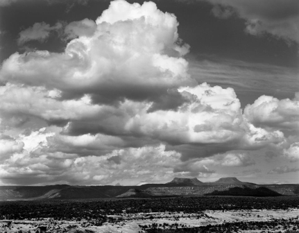 Bears Ears, or Honey I'm Home!  Large format black and white negative, Toyo view 45AII, scanned and digitally printed.  ©Kit Frost