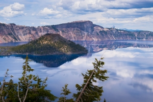 There's nothing quite like seeing the sky reflected in Crater Lake.